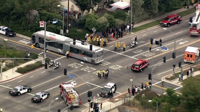 Minor Injuries in Car, Orange Line Bus Crash