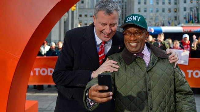 Roker, de Blasio Shake Hands After Weather Spat