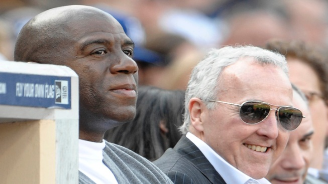 Magic Johnson, Frank McCourt Watch Matt Kemp Spark Dodgers