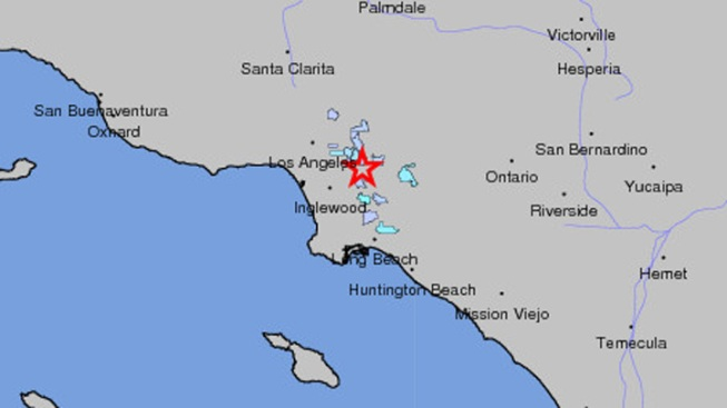 Small Earthquake Reported Near Downtown Los Angeles