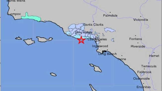 Earthquake Rumbles In Malibu Thousand Oaks NBC Southern California - Thousand oaks map