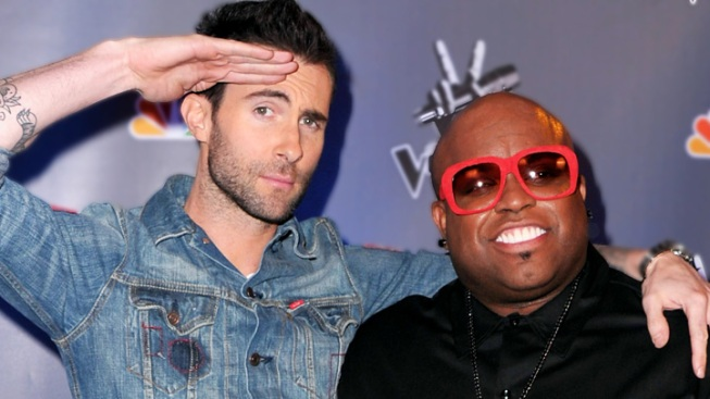 """The Voice"" Recap: Adam Levine and Cee Lo Green Cut Teams in Half"