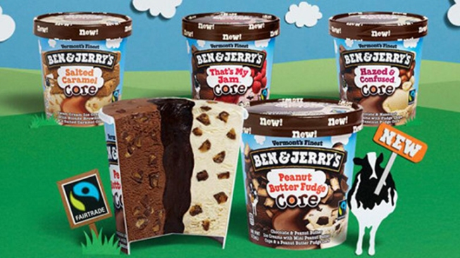 "Ben & Jerry's Ups Goo Factor With New ""Core"" Ice Cream Flavors"