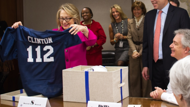 Clinton Returns to Work