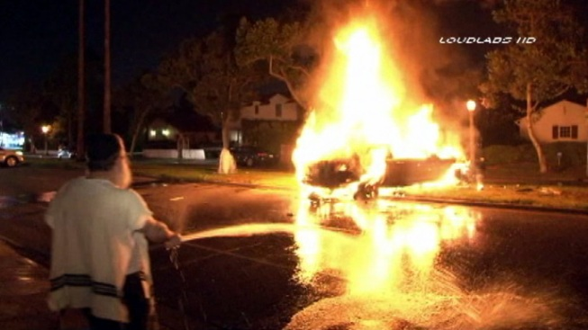 Driver Killed in Fiery Hollywood Crash