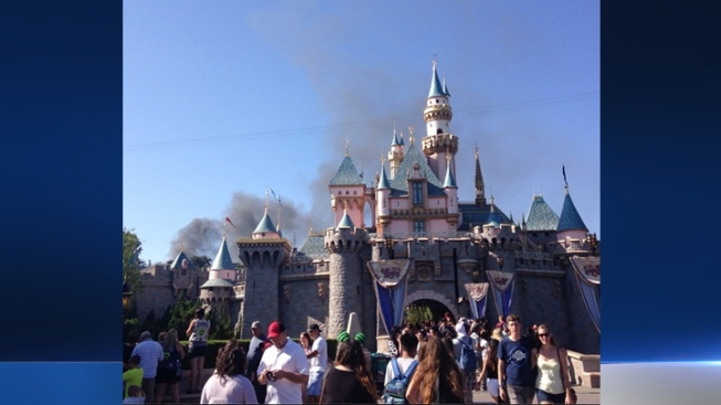 Trash Fire Breaks Out at Disneyland