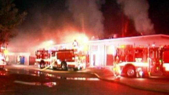 Fire Damages James Monroe High School Wood Shop Building