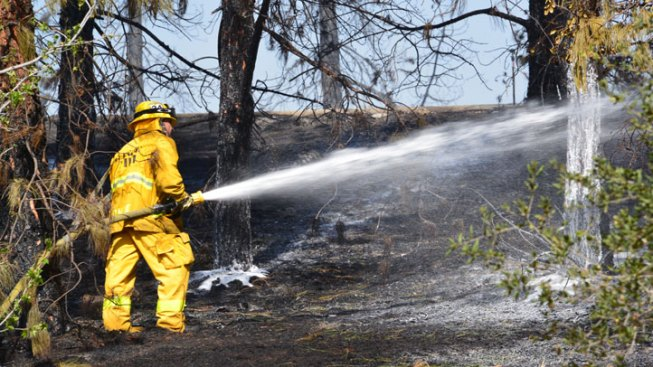 Crews Mop Up Canyons Fire Hot Spots in Glendale