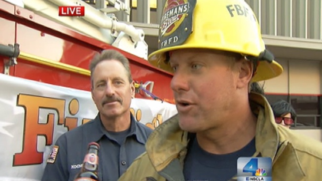 Firefighter Bachelors Auctioned for a Good Cause