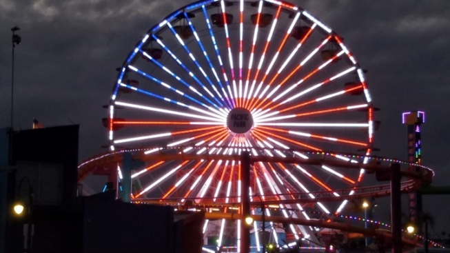 Ohh, Ahh Over the Pacific Wheel's Patriotic Lights