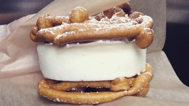 Alhambra Offbeat: Funnel Cake Ice Cream Sandwich