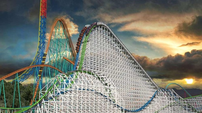 Opening Date Set: Six Flags Twisted Colossus