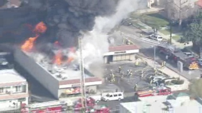 Fire Rips Through Glendale Businesses