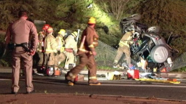 Female Passenger Killed When SUV Skids Into Tree From Freeway Offramp in Glendale