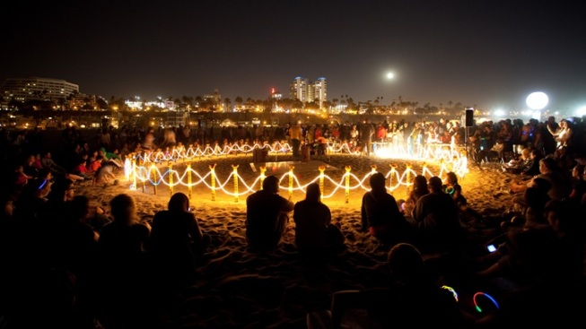 Art on the Beach: Glow Santa Monica
