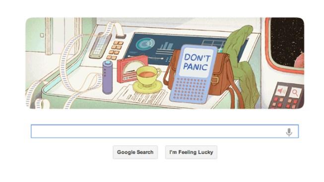 Google Doodle Celebrates Douglas Adams' 61st Birthday