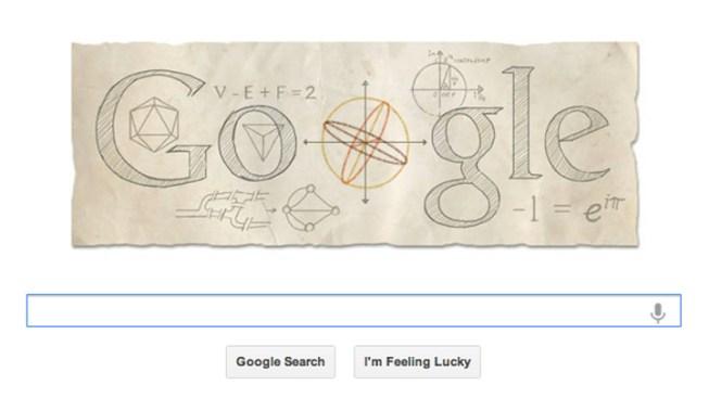 Google Doodle Celebrates Math Wiz Leonhard Euhler's Birthday