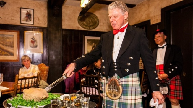 Time to Eat Haggis and Dance, at the Tam
