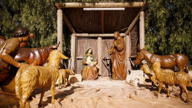 Bob and Dolores Hopes' Nativity Donated to the Cathedral