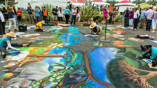 Look Down and Say 'Wow' at This Santa Barbara Chalk Fest