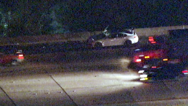 Auto Theft Suspect in Custody After 405 Freeway Pursuit in Van Nuys