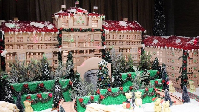 It's The Langham, but in Delicious Gingerbread Form