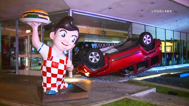 Car Crashes Into Restaurant California