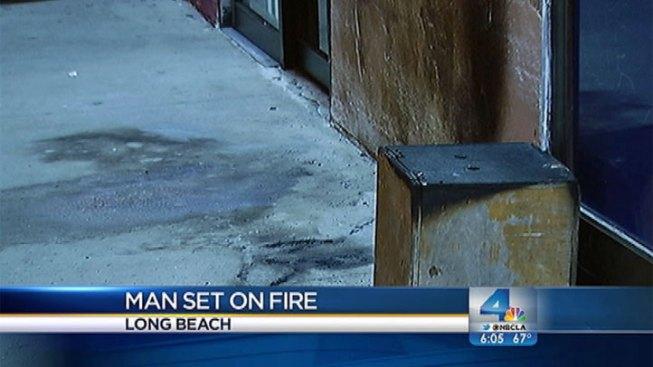 Man Survives Firebomb Attack Outside Long Beach Market