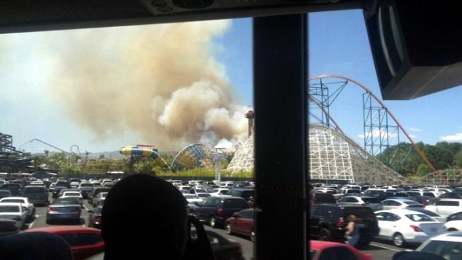 Brush Fire Burns 55 Acres Near Magic Mountain Theme Park
