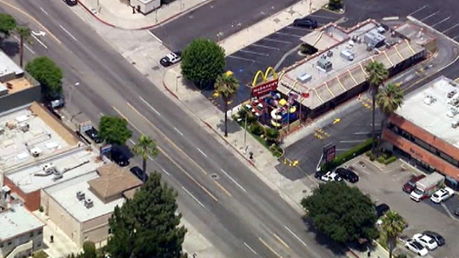 """All Clear"" After Bomb Squad Investigation at Sherman Oaks McDonald's"