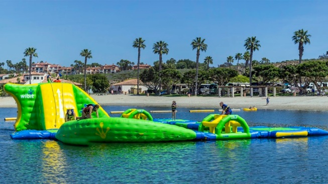 Inflatable Adventure at Newport Dunes