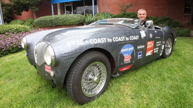 """Drive Away Cancer"" Austin-Healey on 50,000-Mile Lap of United States"