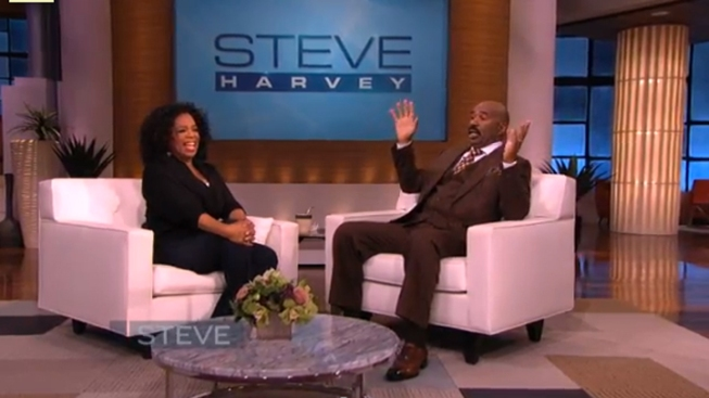 """Oprah Sits Down with Steve Harvey in the """"Ultimate Role Reversal"""""""