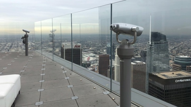 Showers + Towers: OUE Skyspace L.A.'s Rainy Day Deal