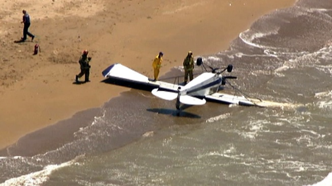 Small Plane Down Off Ranchos Palos Verdes, Pilot Suffers Minor Injuries