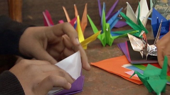 Classmates' Paper Cranes Honor Boy Who Lost His Father