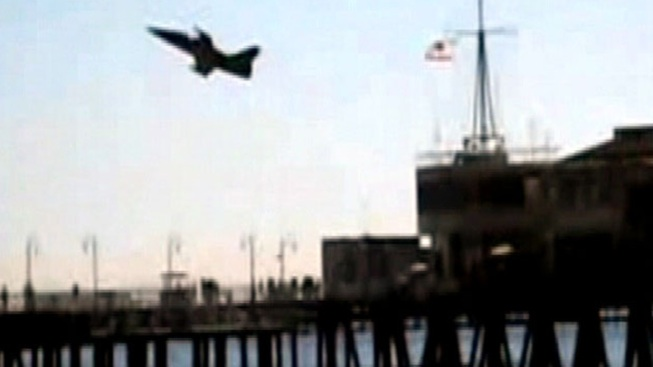Santa Monica Pier Military Jet Stunt Lands Pilot in Jail