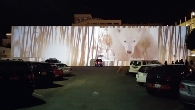100-Foot Polar Bear in Santa Monica