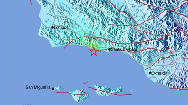 Magnitude-4.6 Quake in Santa Barbara Channel Jolts Coast