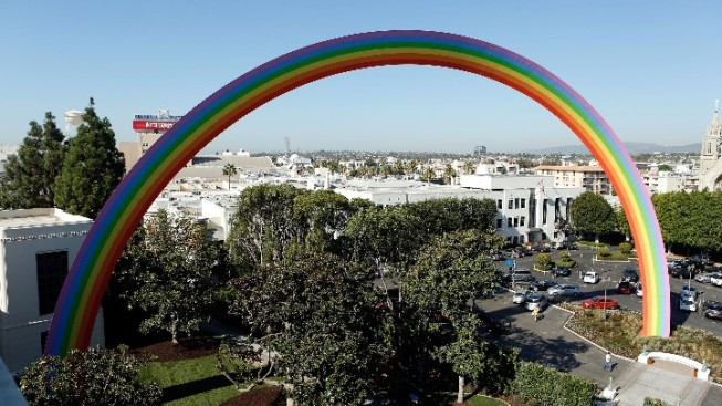 A Rainbow Unveiled at the Sony Pictures Lot