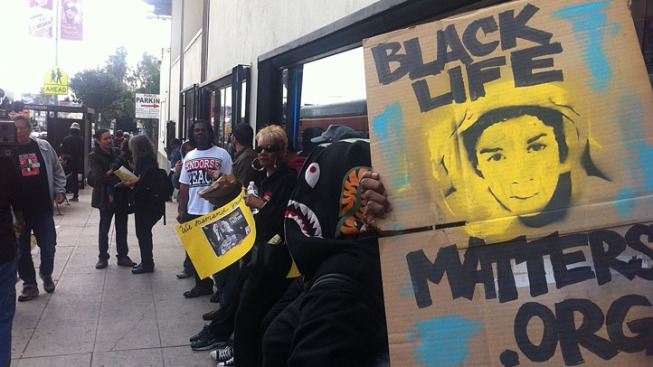 Hundreds March in Hollywood to Protest Trayvon Martin Shooting