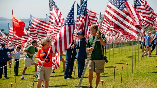 "Pepperdine's ""Waves of Flags"" Memorial Joins Nationwide Remembrance of 9/11"