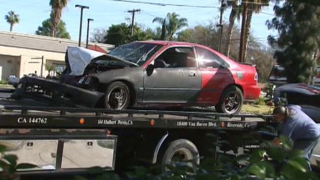 Two Injured in Riverside Pursuit Crash