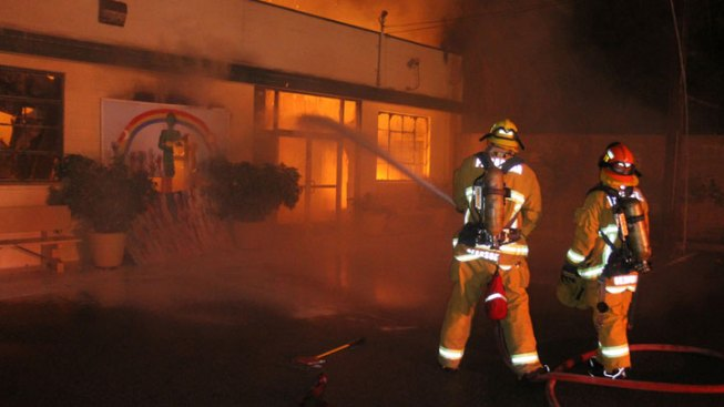 Fire Destroys Building at Pasadena Community and Learning Center