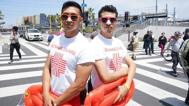 Santa Monica: 'Scrambleguards' at Your Service