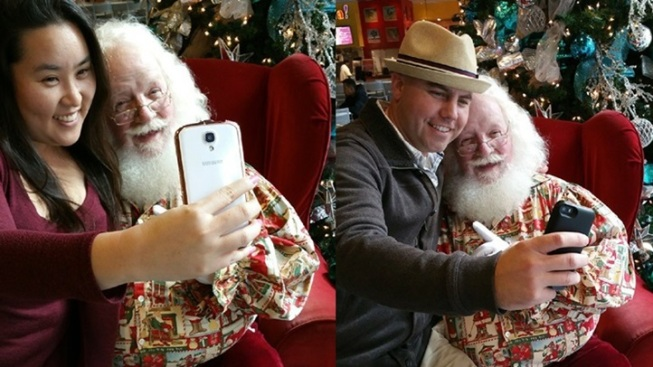 Holiday Photo Twist: Selfies With Santa