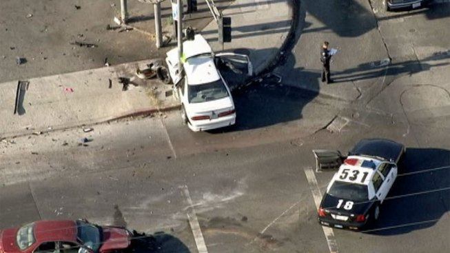 Seven Children, Two Adults Injured in South Los Angeles Crash