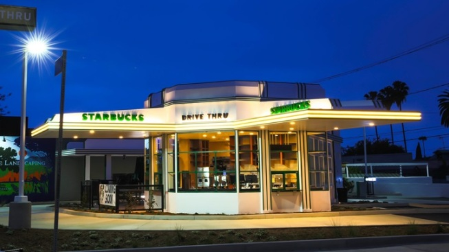 Opening: Historic Gilmore Gas Station Starbucks