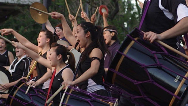Over 60 Taiko Drummers Play Together at the Ford