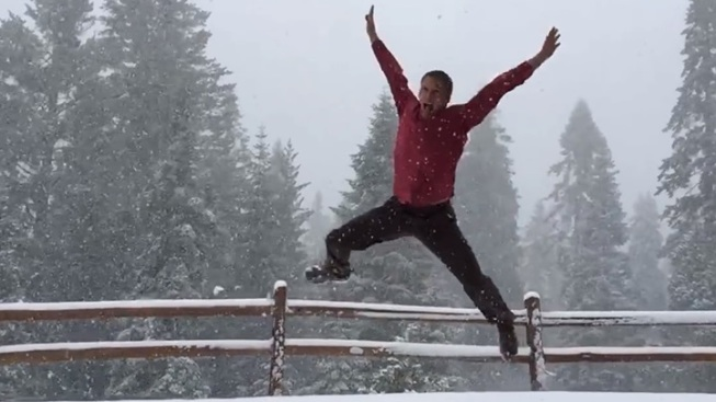 Mountain Snow: People Are Literally Dancing (Literally)